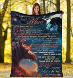 Unicorn To My Mom Blanket 3D Graphic Blanket Gift For Mother From Daughter