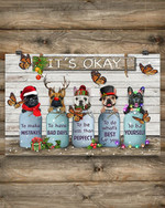 Butterfly Frenchies It's Okay Poster Vintage Christmas Ornaments Neighborhood Christmas Gifts