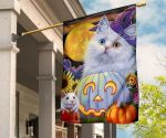 Adorable Cat With Mouse Happy Halloween Flag Festive Autumn And Fall Flags Gifts For Cat Lovers