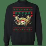 Sea Turtle Christmas Sweatshirt Wear Santa Hat Christmas Tree Light Sweatshirt Xmas Gift Ideas