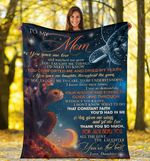 Turtle To My Mom Blanket Beautiful Graphic Design Comfortable Gifts For Mother