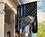 Pitbull American Thin Blue Line Flag Gifts For Police Officers