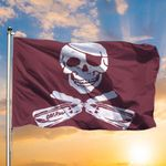Old Row Maroon Pirate Flag Mississippi State Pirate Flag Home Decor
