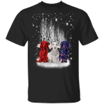Three Dachshund American Flag Shirt Snowflake Ugly Christmas For Patriot Weiner Dog Gifts