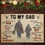 Hunting Dad And Son To My Dad Vintage Poster Best Birthday Father's Day Gift For Dad From Son