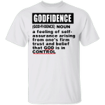 Godfidence Shirt Godfidence Definition T-Shirt Inspirational Quote Christian Gifts For Family