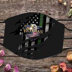 Eagle Veteran Logo American Flag 3D Cloth Face Mask Gift For Veterans Day Present For Family