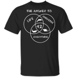 42 The Answer To Life Universe Everything T-Shirt For Men Women Gifts For Astronomy Lovers