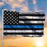 Law Enforcement Flag American Flag With Thin Blue Line Honor Law Enforcement Officers For Decor