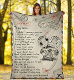 Turtle Couple To My Wife From Husband Fleece Blanket Sweet Message Couple Blanket Gifts For Her