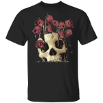 Skull And Rose Graphic T-Shirt Sugar Classic Halloween Shirts Unisex Outfits Men And Women