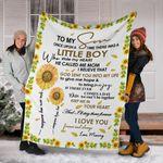 Sunflower To My Son Fleece Blanket Letter From Mom Romantic Blanket Christmas Gift For Son