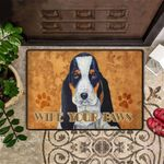 Wipe Your Paws Doormat Basset Hound Dog Cute Outdoor Welcome Mat For Dog Lovers Gift Idea