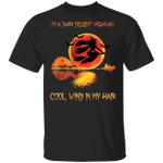 On A Dark Desert Highway Cool Wind In My Hair T-Shirt Funny Halloween Shirts For Adults
