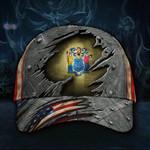 New Jersey State Flag Hat 3D Printed U.S Flag Vintage Hat Men's Unique Design Patriotic