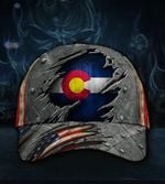 Colorado State Flag Hat 3D Printed American Vintage Hat Proud Colorado Cap Gift Idea For Him