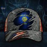 Oregon State Flag Hat 3D Printed Patriotic U.S Flag Vintage Oregon Hat Gift for Grandpa