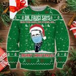Dr Fauci Say Merry Christmas Sweatshirt Dr. Fauci Santa  Mask Sweater Gift For Doctor