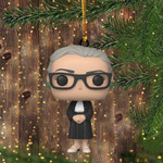 RBG Christmas Ornament Cute Ornament 2020 Xmas Tree Decor Idea Ruth Bader Ginsburg Ornament