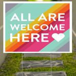 Rainbow All Are Welcome Here Yard Sign Outdoor Winter Decorating Ideas