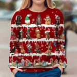 Dachshunds Red Ugly Sweatshirt Christmas Unique Snow Xmas Sweatshirt Designs, Gifts For Parents