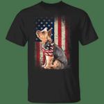 Yorkie American Usa Flag Dog T-Shirt Patriotic 4th Of July Shirts