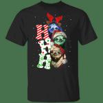 Sloths Ho Ho Ho Christmas T-Shirt Cute Funny Christmas Shirt For Men Woman