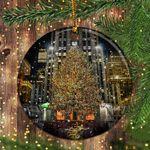 New York Rockefeller Center Snow Christmas Tree Ornament Annual Event Christmas Ornament 2020