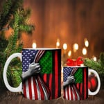 The Black Liberation Mug Inside American Flag Mug