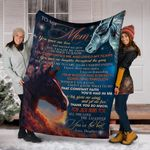 Horse To My Mom You Gave Me Love And Watched Me Grow Blanket Graphic 3D Gift For Mom