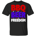 BBQ Beer Freedom Shirt Fourth Of July Gift Shirt For Woman Men Gift For Friends