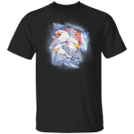 Eagle American With US Flag T-Shirt Proud Of America Patriotic Graphic Tees Gifts For Friends