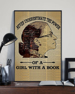 RBG Never Underestimate the Power Of A Girl With A Book Poster Quotes By RBG Merchandise