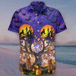Golden Retrievers Hawaiian Shirt Bat Pumpkin Clothing Cute Halloween Gift For Girlfriend