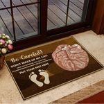 Be Careful Don't Wake Up My Cat Put Your Feet Here Doormat Cat Welcome Mat Home Decoration