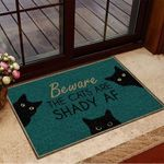 Beware The Cats Are Shady AF Doormat Black Cat Doormat House Decor