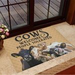 Cows Welcome People Tolerated Doormat Funny Welcome Mats Gifts For Cow Lovers