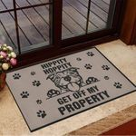 Pitbull Hippity Hoppity Get Off My Property Doormat Funny Dog Doormat Gifts For Pitbull Lovers