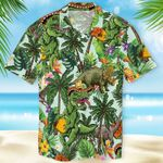 Taco T-Rex Hawaiian Shirt Graphic Funny Beach T-Shirts Mens Summer Gift Ideas
