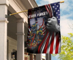 323 Firefighters 9.11 Never Forget Flag And American Flag Honor Fireman Memorial Decor Gift