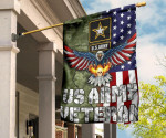 Eagle US Army Veteran Flag Military With American Flag Garden Decor