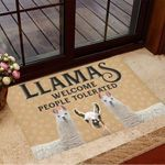 Llamas Welcome People Tolerated Doormat Cute Welcome Mats Housewarming Gift Ideas