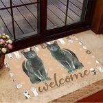 Cat Welcome Doormat Black Cat Doormat Gifts For New Homeowners