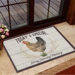 Chicken Today's Special Every Saturday Morning Doormat Retro Doormat Home Decoration