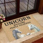 Unicorn Welcome People Tolerated Doormat Welcome Home Mat Gifts For Unicorn Lovers
