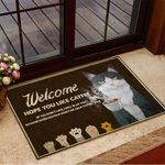 Welcome Hope You Like Catfee Doormat Funny Cat Doormat Gifts For Coffee Lovers