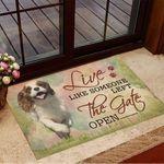 Cavalier King Charles Spaniel Live Like Someone Left Doormat Dog Doormat Home Decor