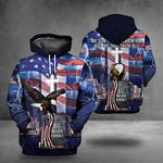 9-11 Never Forget Hoodie Eagle American Flag Christian Memorial Patriot Day Clothing