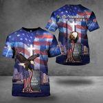 9-11 Never Forget T-Shirt Eagle American Flag Christian Memorial Patriot Day September 11