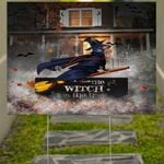 Dachshund The Witch In This House Halloween Yard Sign For Dachshund Owner Lawn Decorations